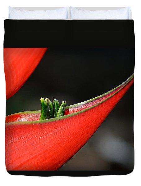 Heliconia Flower Petal Duvet Cover