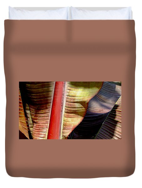 Heliconia Waves Duvet Cover