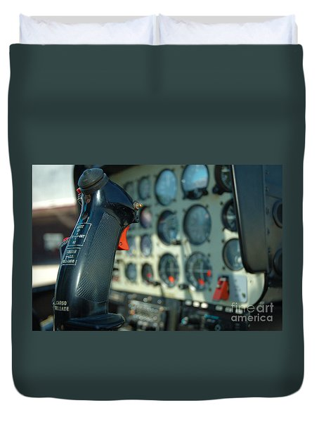 Helicopter Cockpit Duvet Cover