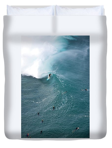 Tubed From Above. Duvet Cover