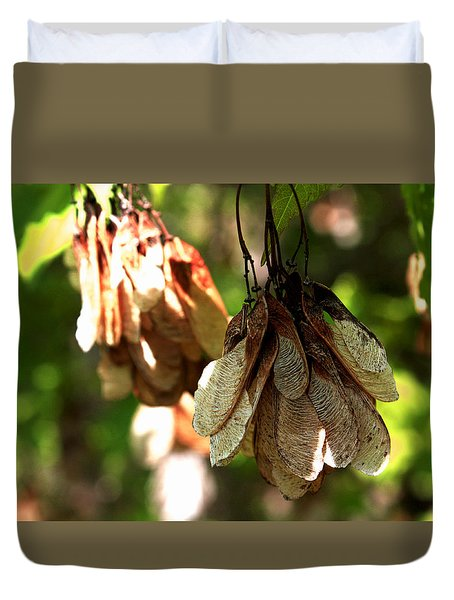 Helicopter Seeds Duvet Cover