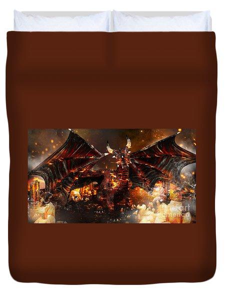 Hellborn Dragon Duvet Cover