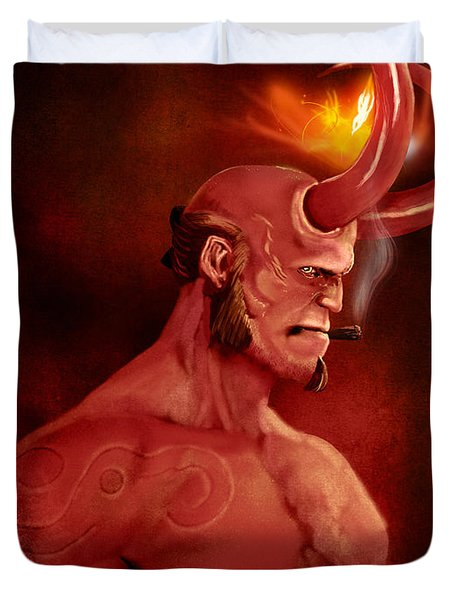 Hellboy Duvet Cover by Jason Longstreet