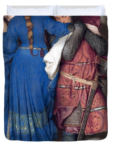 Hellelil And Hildebrand Or The Meeting On The Turret Stairs Duvet Cover