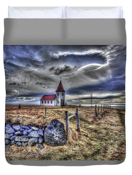 Hellnar Church Duvet Cover