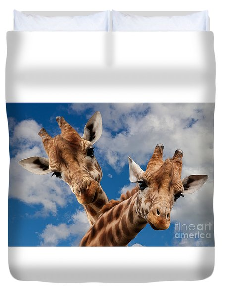 Duvet Cover featuring the photograph Hello by Christine Sponchia