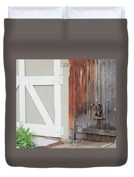 Duvet Cover featuring the photograph Hello, Comet by Christin Brodie