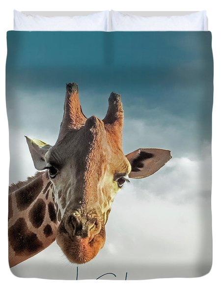 Duvet Cover featuring the photograph Hello Down There by Karen Lewis