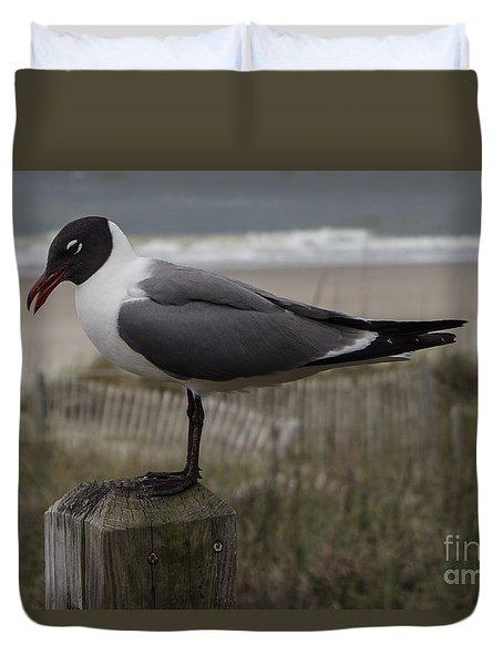 Hello Friend Seagull Duvet Cover