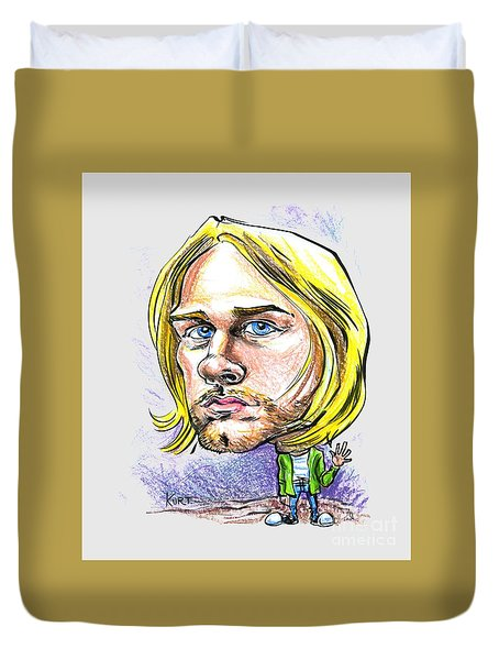 Hello Kurt Duvet Cover by John Ashton Golden