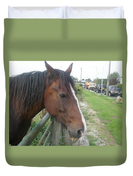 Hello Mr Horse Duvet Cover