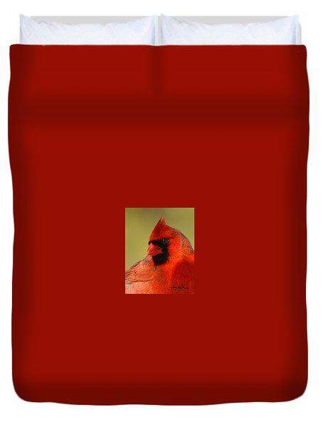 Hello Red Duvet Cover