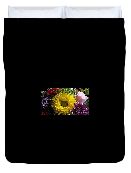 Duvet Cover featuring the photograph Hello Sunshine by Becky Lupe