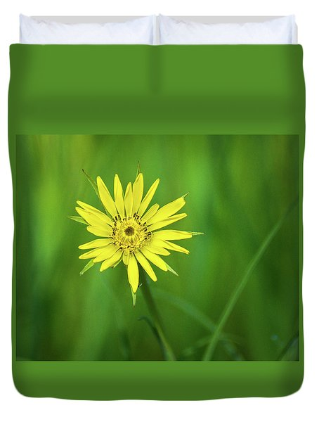 Duvet Cover featuring the photograph Hello Wild Yellow by Bill Pevlor