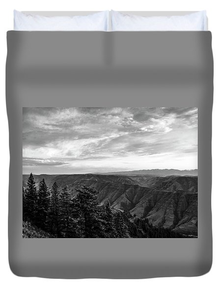 Hells Canyon Drama Duvet Cover