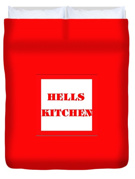 Hells Kitchen Red Duvet Cover