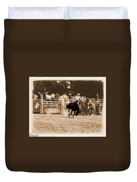 Helluva Rodeo-the Ride 2 Duvet Cover