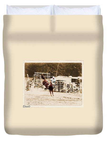 Helluva Rodeo-the Ride 3 Duvet Cover