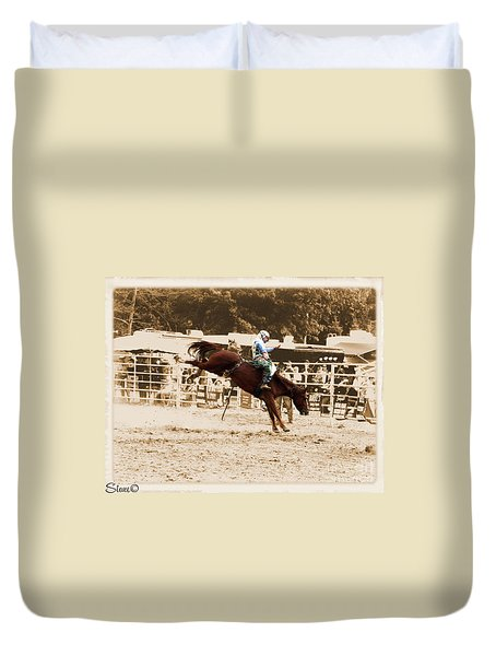 Helluva Rodeo-the Ride 4 Duvet Cover