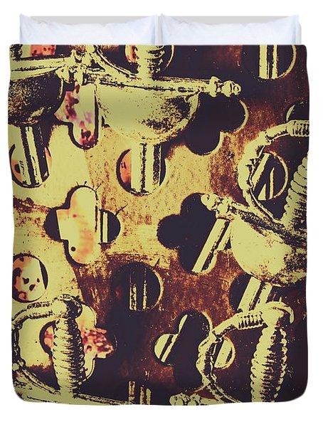 Helm Of Antique War Duvet Cover