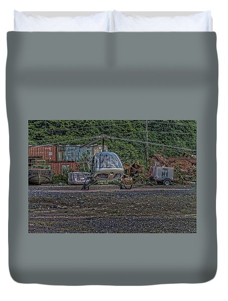 Help 4 Duvet Cover by Timothy Latta