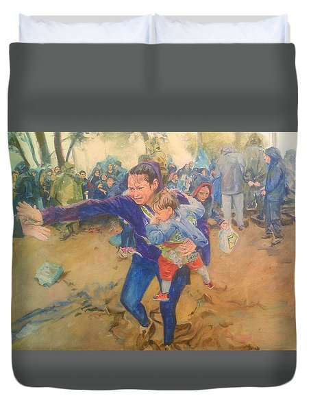 Helping Hand Duvet Cover