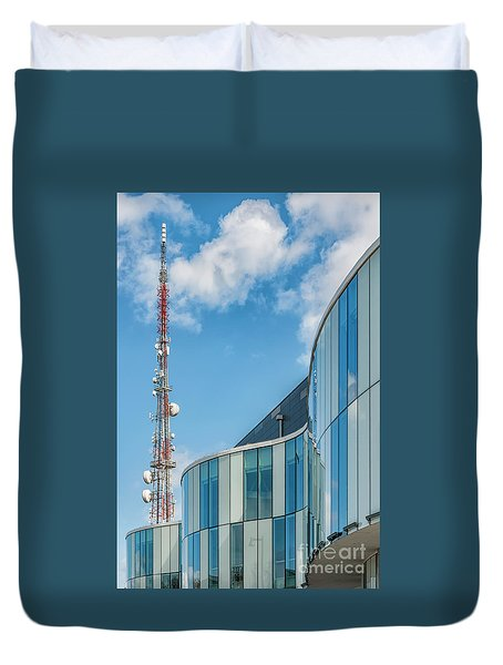 Duvet Cover featuring the photograph Helsingborg Arena Concert Hall by Antony McAulay