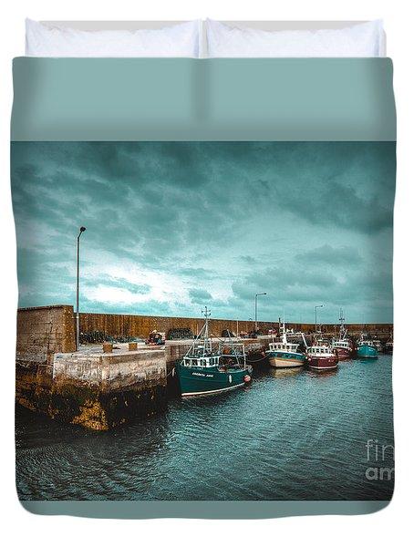Helvick Harbour 2 Duvet Cover