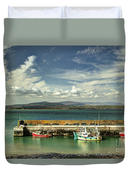 Helvick Harbour Duvet Cover