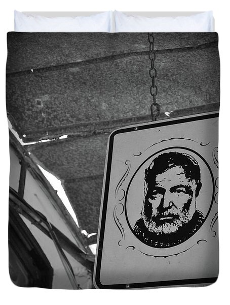 Duvet Cover featuring the photograph Hemingway Vision by Jost Houk