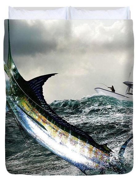 Hemingway's Marlin, The Old Man And The Sea, Fish On Duvet Cover
