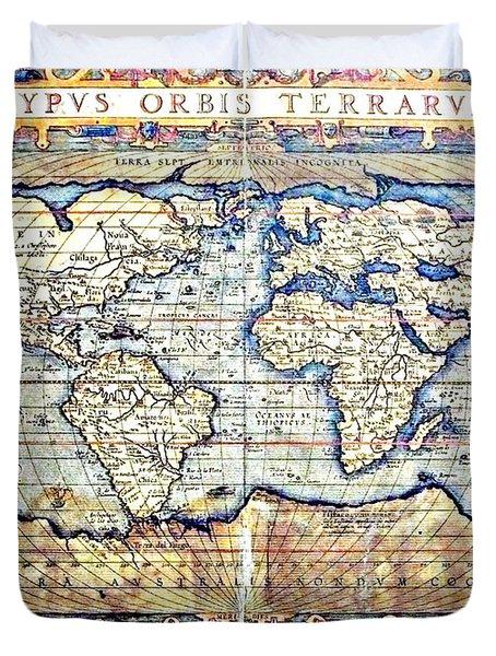 Hemisphere World  Duvet Cover