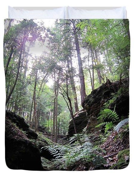 Hemlock Gorge Duvet Cover