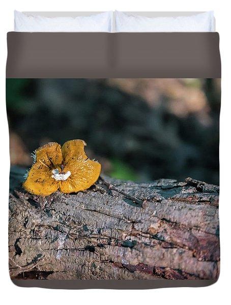 Hen Of The Woods Mushroom Duvet Cover