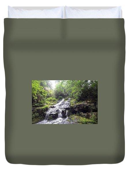 Hen Wallow Falls Great Smoky Mountains National Park Duvet Cover