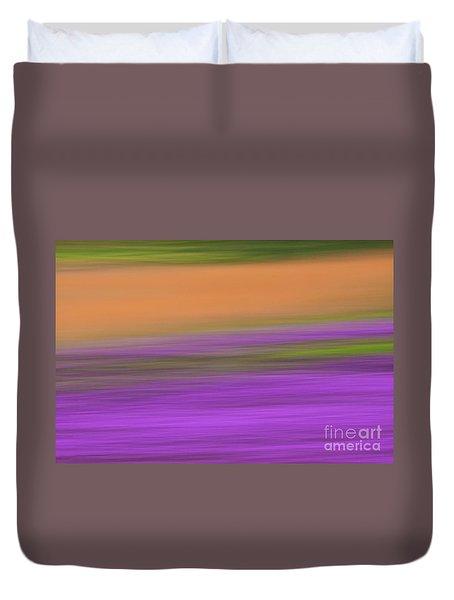 Duvet Cover featuring the photograph Henbit Abstract - D010049 by Daniel Dempster