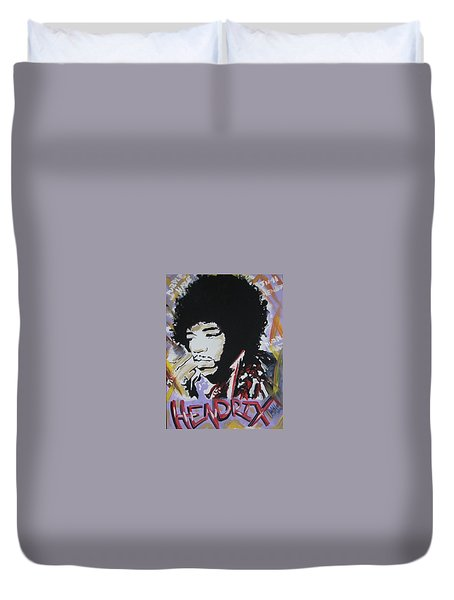 Hendrix Thoughts Duvet Cover