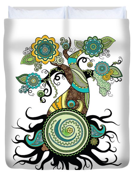 Henna Tree Of Life Duvet Cover