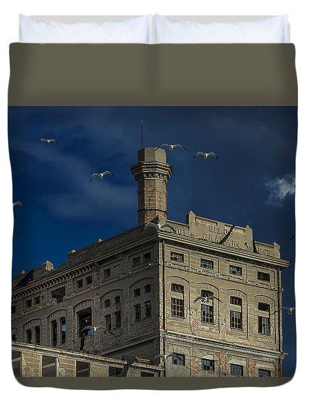 Duvet Cover featuring the photograph Hennebique Silos 1 Industrial Archeology Abandoned Places by Enrico Pelos
