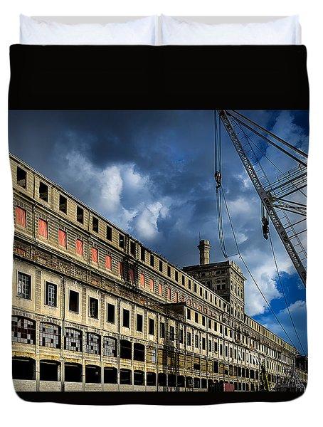 Duvet Cover featuring the photograph Hennebique Silos 2 Industrial Archeology Abandoned Places by Enrico Pelos