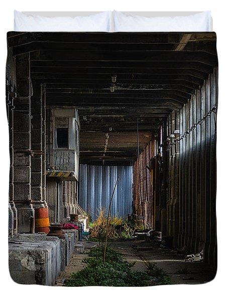 Hennebique Silos 3 Industrial Archeology Abandoned Places Duvet Cover