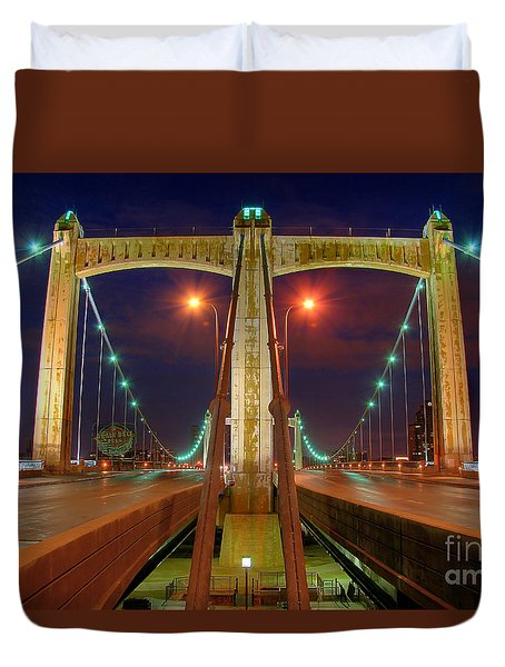 Hennepin Avenue Bridge Minneapolis Duvet Cover