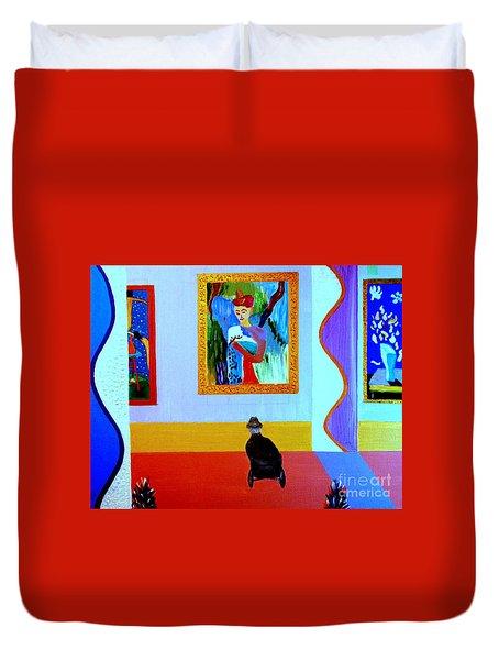 Henri Remembers Duvet Cover by Bill OConnor