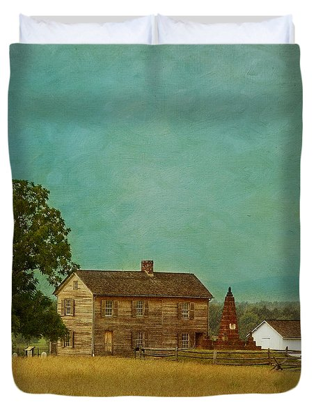 Henry House At Manassas Battlefield Park Duvet Cover