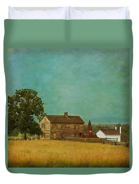 Henry House At Manassas Battlefield Park Duvet Cover