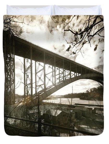 Henry Hudson Bridge, 1936 Duvet Cover
