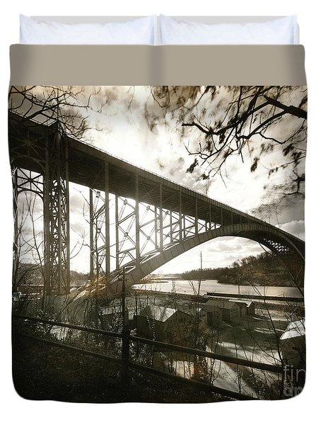 Henry Hudson Bridge, 1936 Duvet Cover
