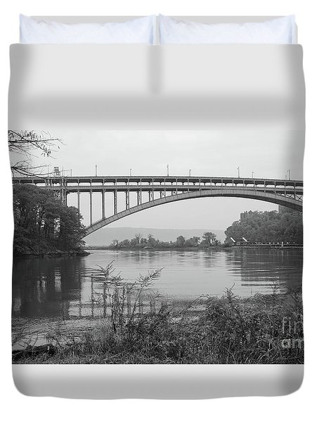 Henry Hudson Bridge  Duvet Cover