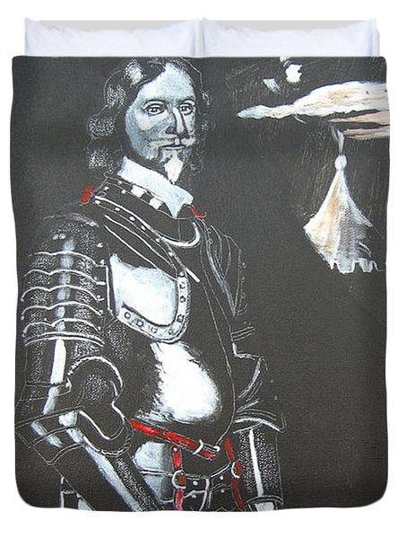 Duvet Cover featuring the painting Henry Ireton by Richard Le Page