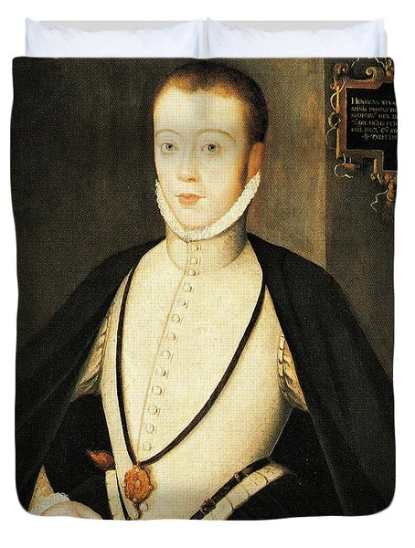Henry Stewart Lord Darnley Married Mary Queen Of Scots 1565 Duvet Cover